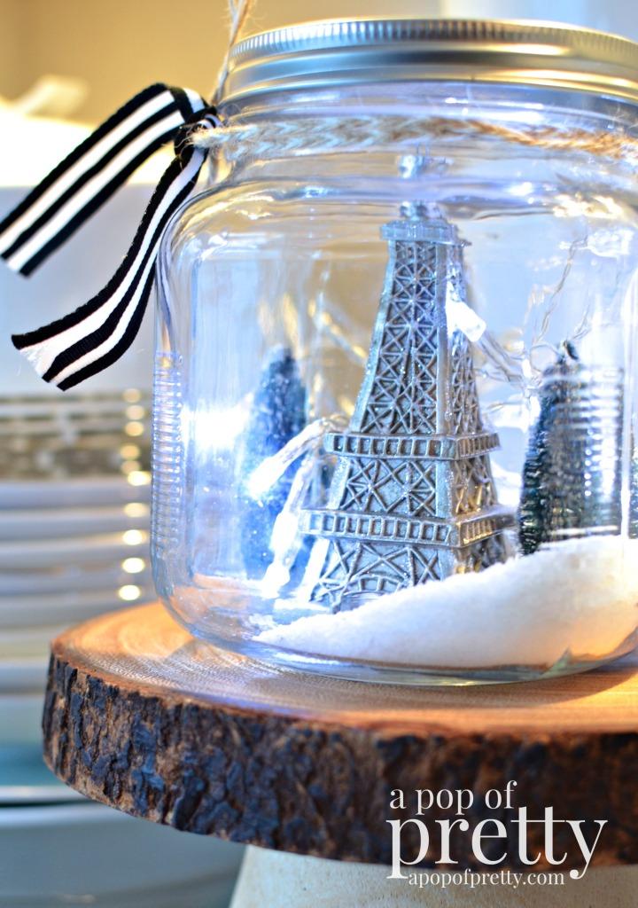 French inspired snow globe
