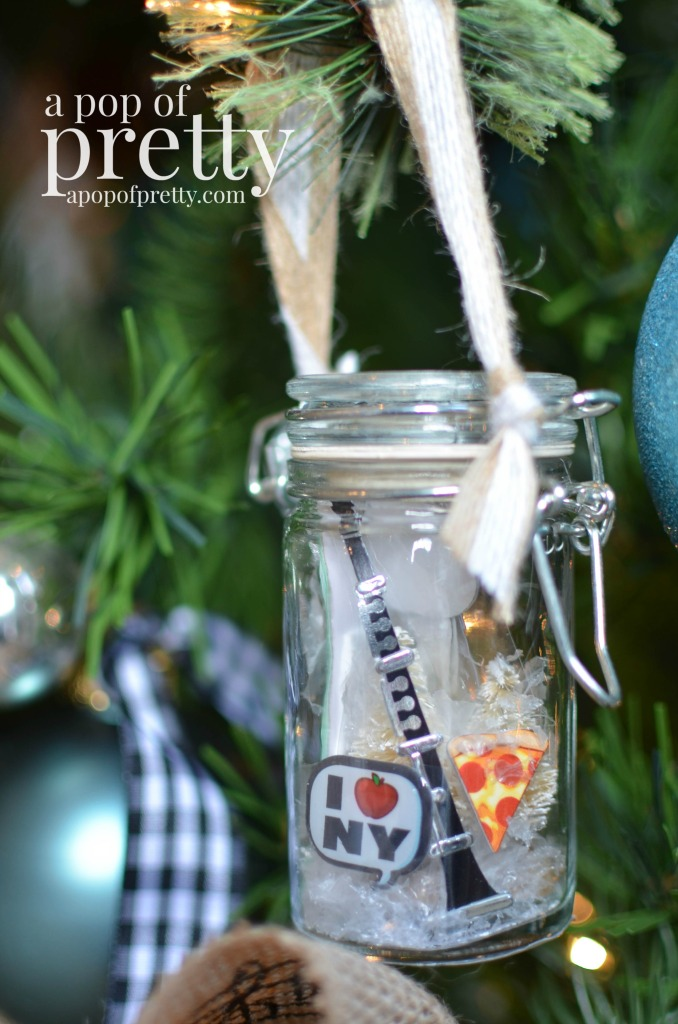 DIY Personalized Christmas Ornaments Spice Jars