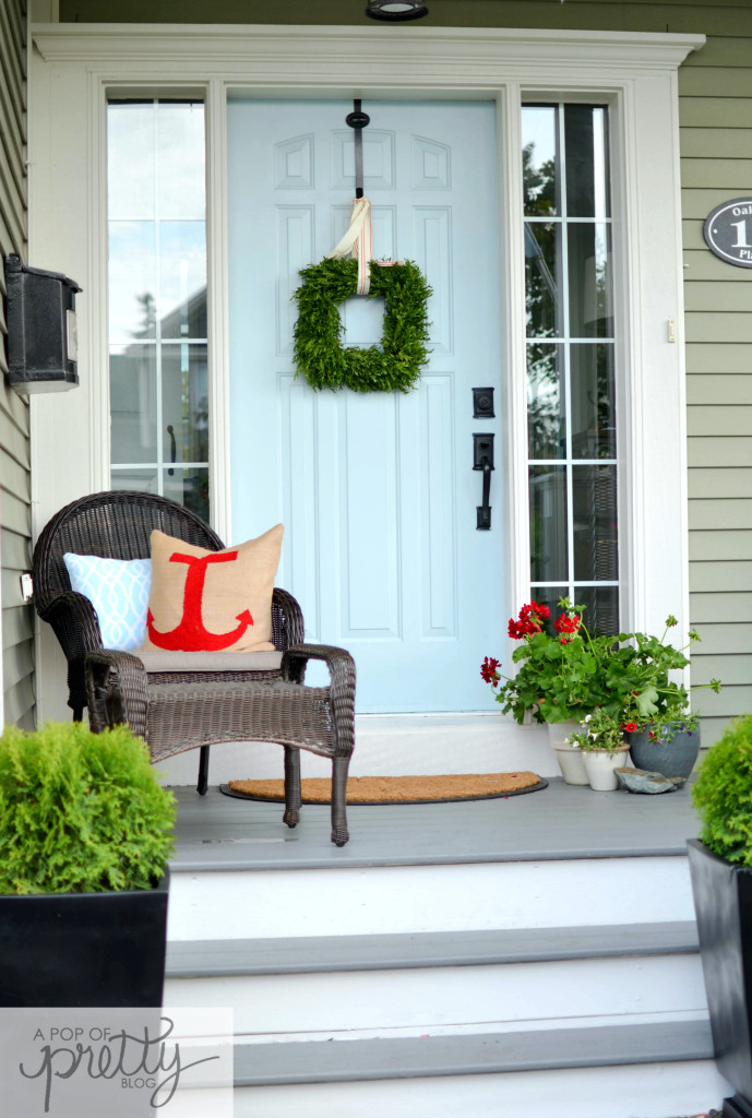 front porch - behr solid stain pewter