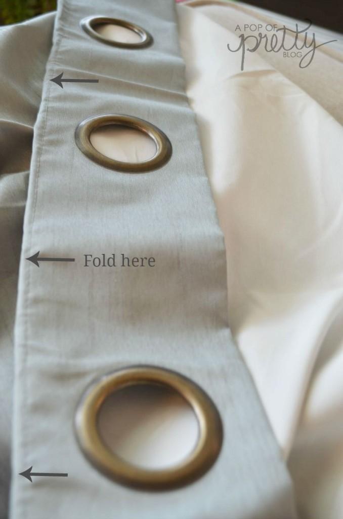 grommet curtain hack step one