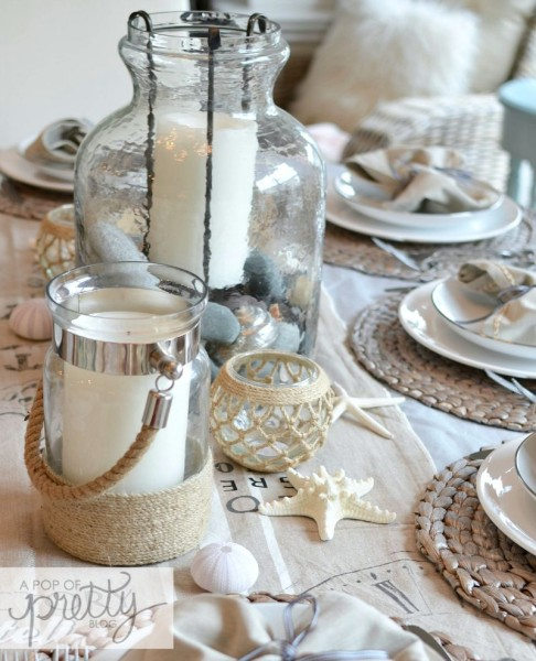 summer table idea - how to tie napkins
