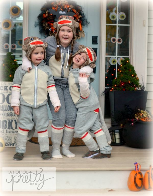 e7a3ada1bf8 Halloween Costume Ideas: Sweet DIY Sock Monkey - A Pop of Pretty ...