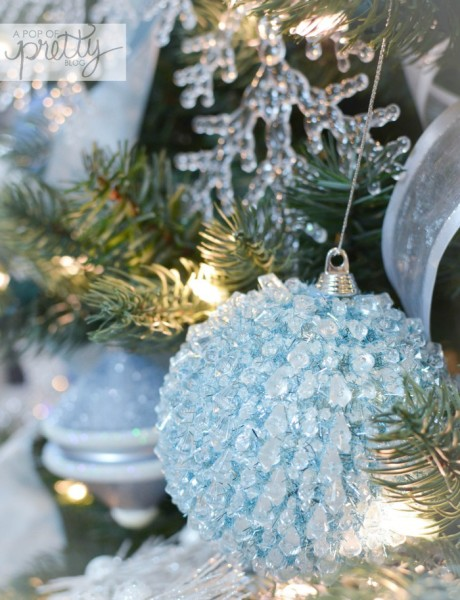 Disney Frozen Christmas Tree ideas blue ball
