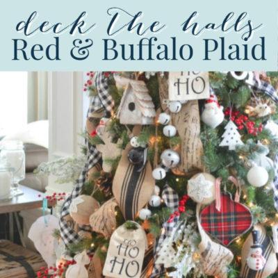 Red Plaid Christmas Decor: Cozy Tour