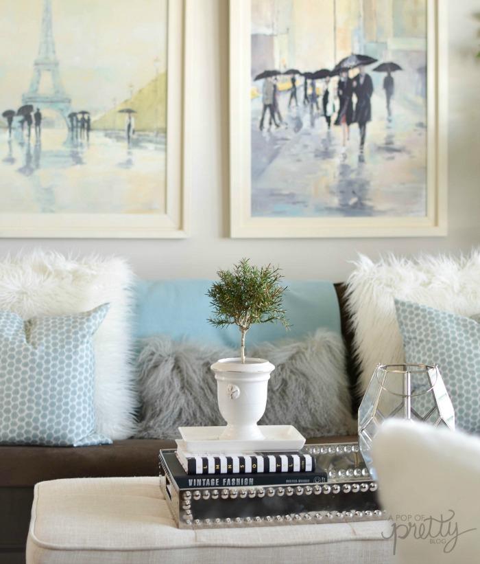 Living Room A Pop of Pretty Blog
