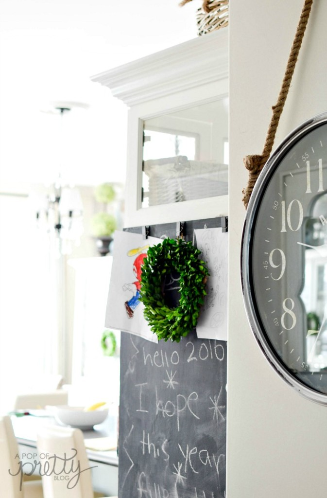 Cabinet painted with Chalkboard paint