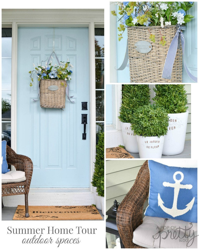 A Pop of Pretty - Pinterest Collage - Summer Home Tour - Outdoor Spaces