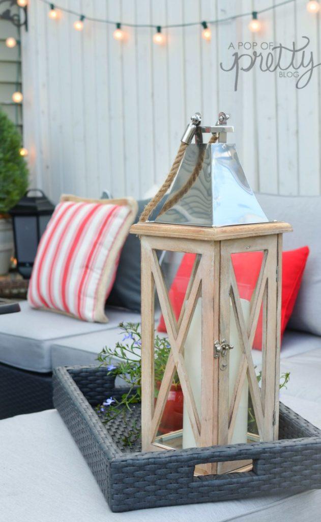 summer decorating outdoor lantern