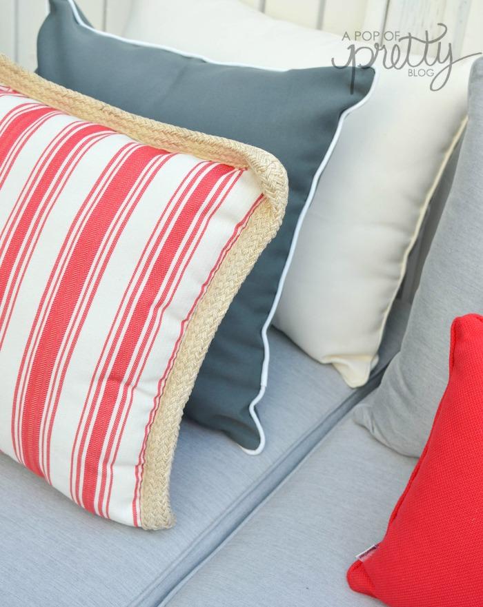 summer decorating toss pillows