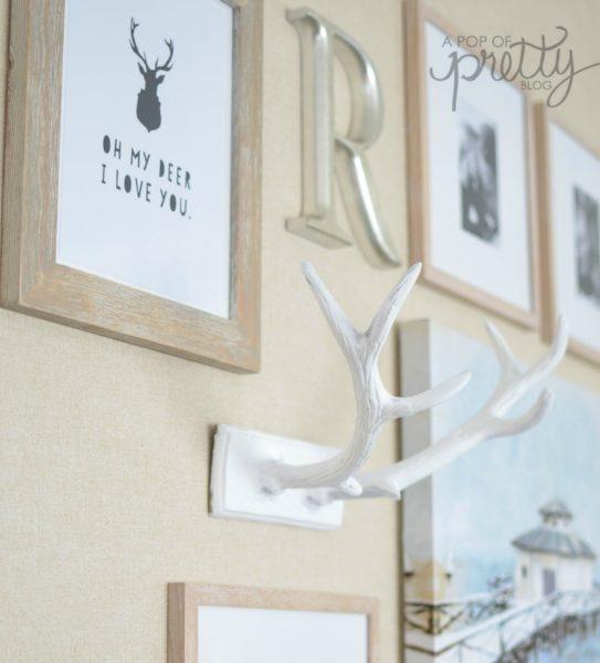 fall decor deer antlers