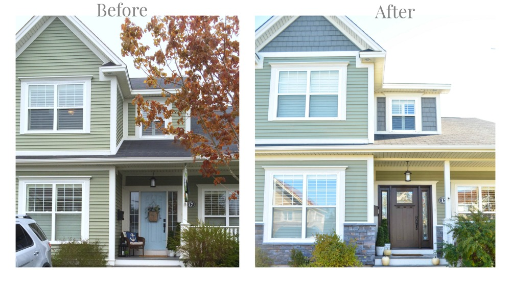 Masonite craftsman front door before and after - house