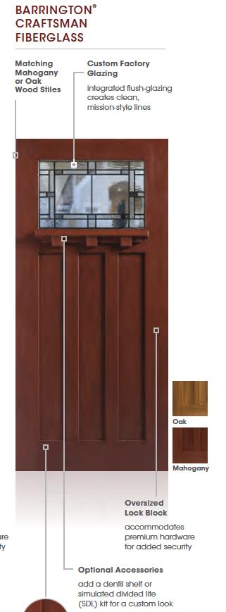 Masonite Barrington Craftsman front door