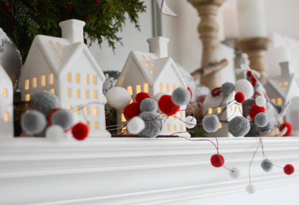 Nordic Christmas decor Walmart mantel