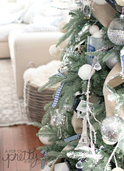 navy and white holiday decor