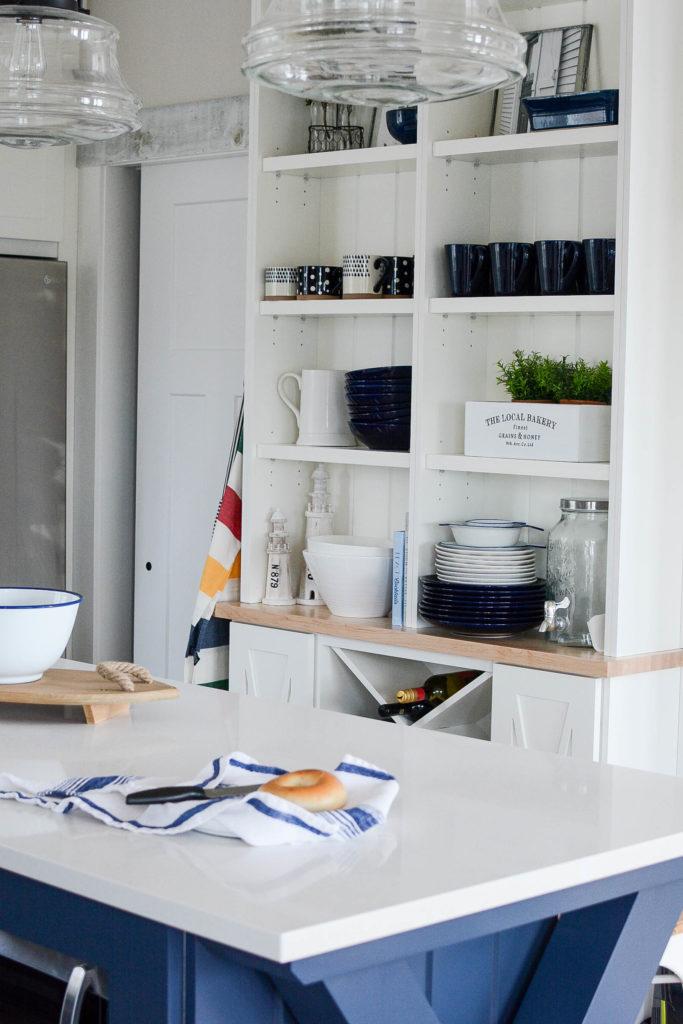 White quartz countertops vs granite in coastal kitchen