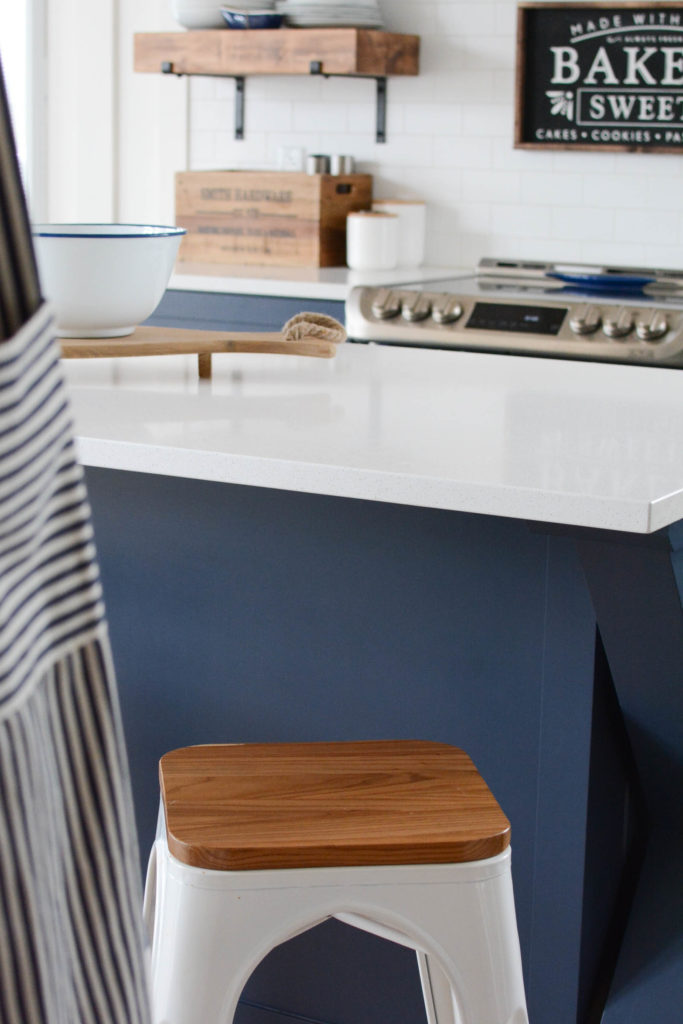 two tone kitchen navy and white