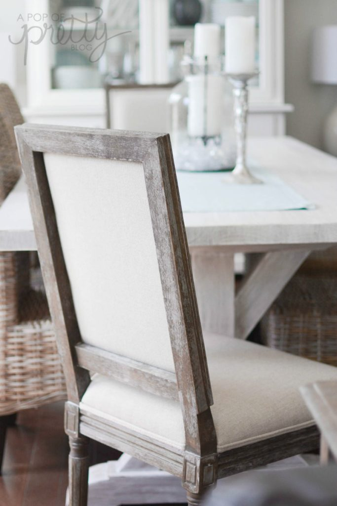 whitewashed trestle dining table 2