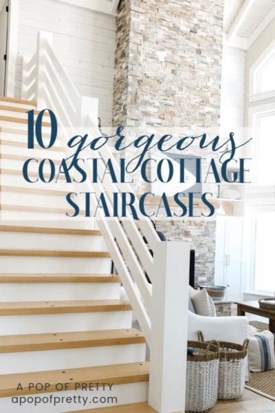 coastal style staircase design