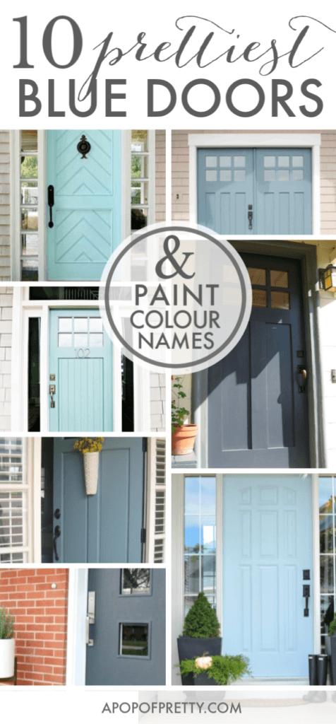 Blue front door colour ideas