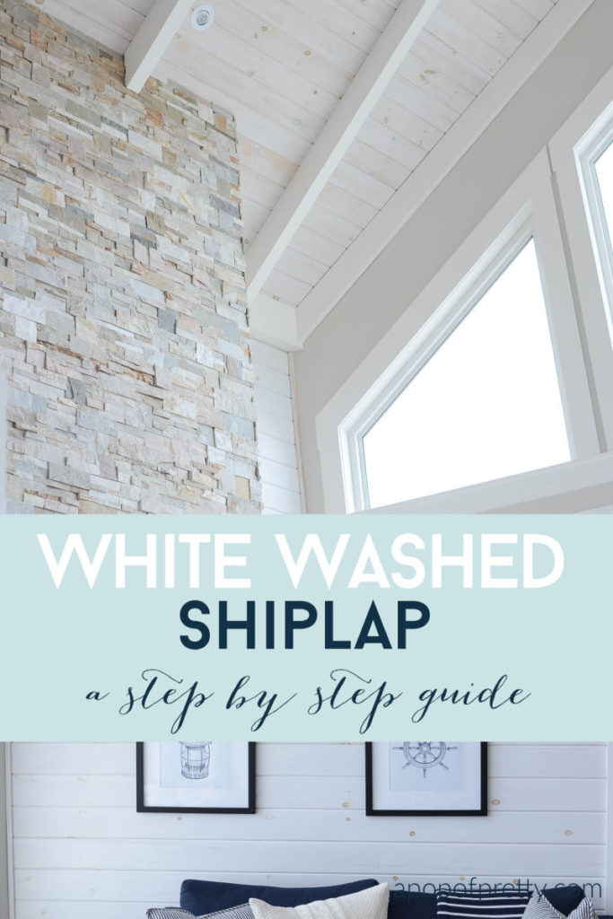 white wash shiplap tutorial
