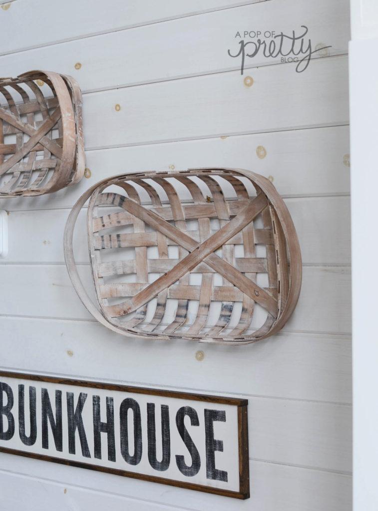 tobacco baskets on plank walls