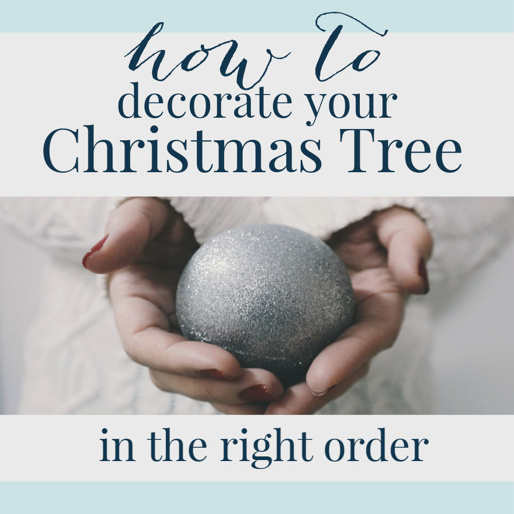 what goes on your Christmas tree first ribbon or ornaments