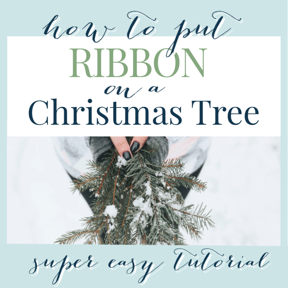 how to put ribbon on your Christmas tree