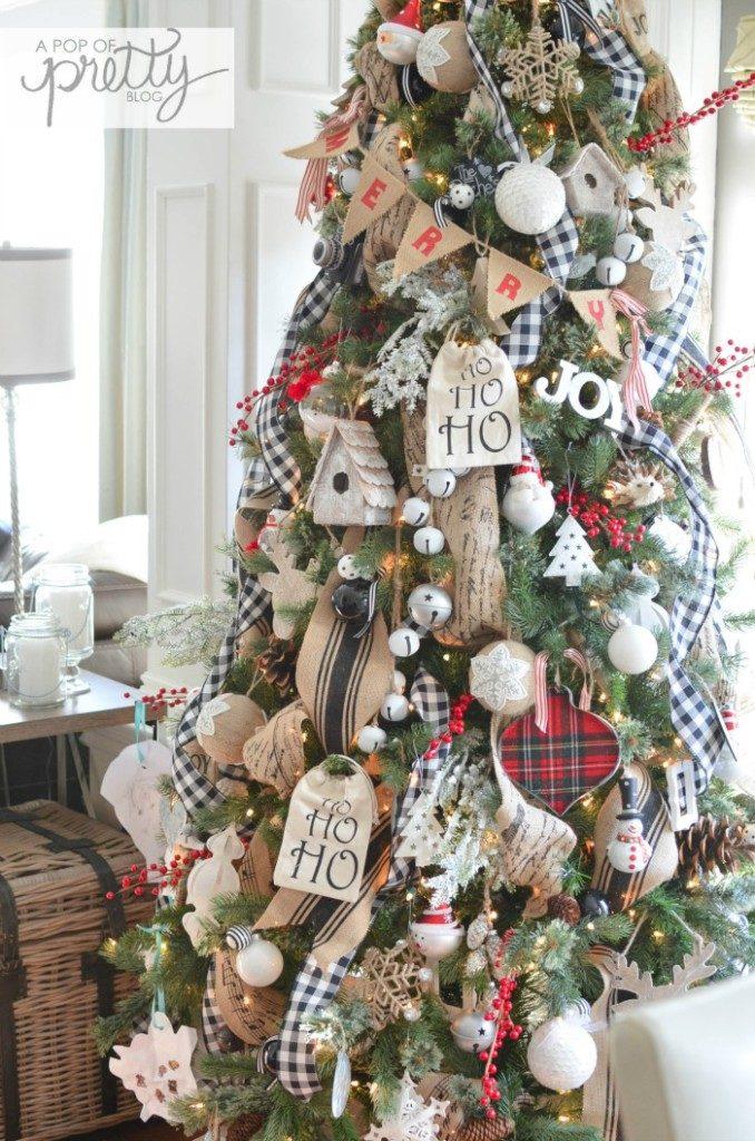 Christmas decor shop farmhouse style tree