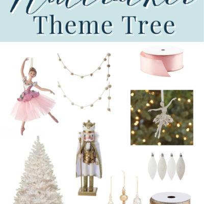 Nutcracker Themed Christmas Tree (Sugar Plum Fairy)