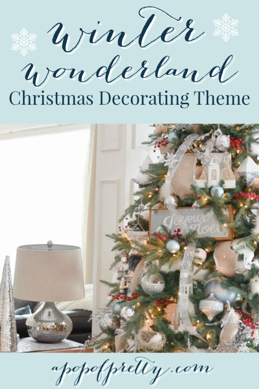 Winter Wonderland Christmas Decorating Theme Home Tour A Pop Of Pretty