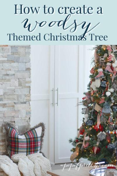 lake house Christmas tree