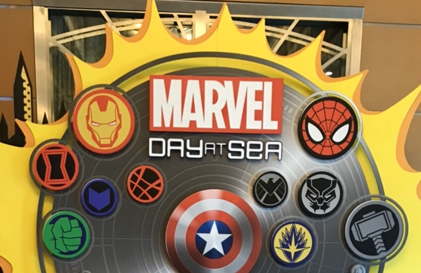 Disney Marvel day at Sea