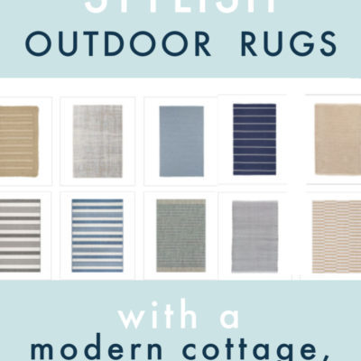 10 Stylish Outdoor Rugs I Love