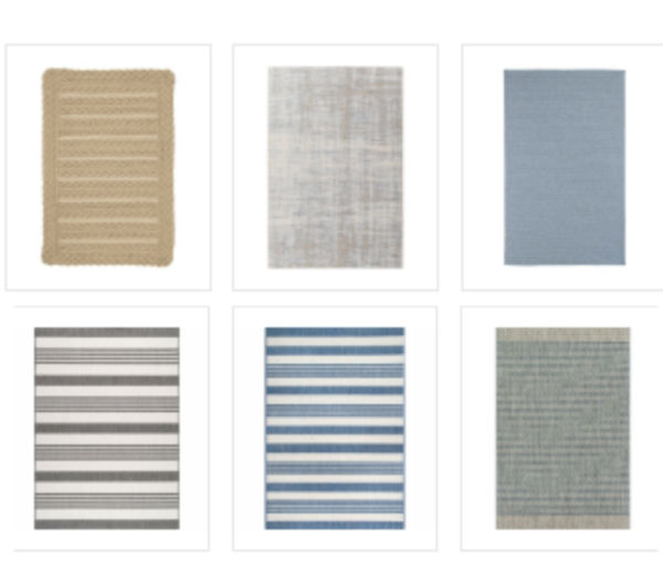 Stylish outdoor rugs