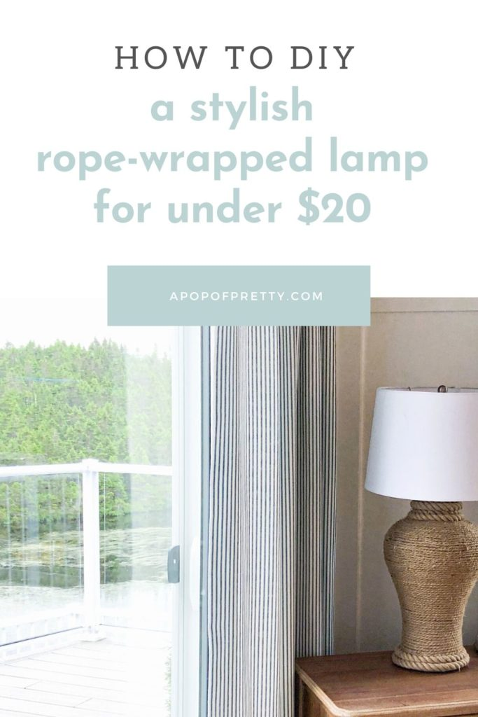 Coastal lamp rope wrapped