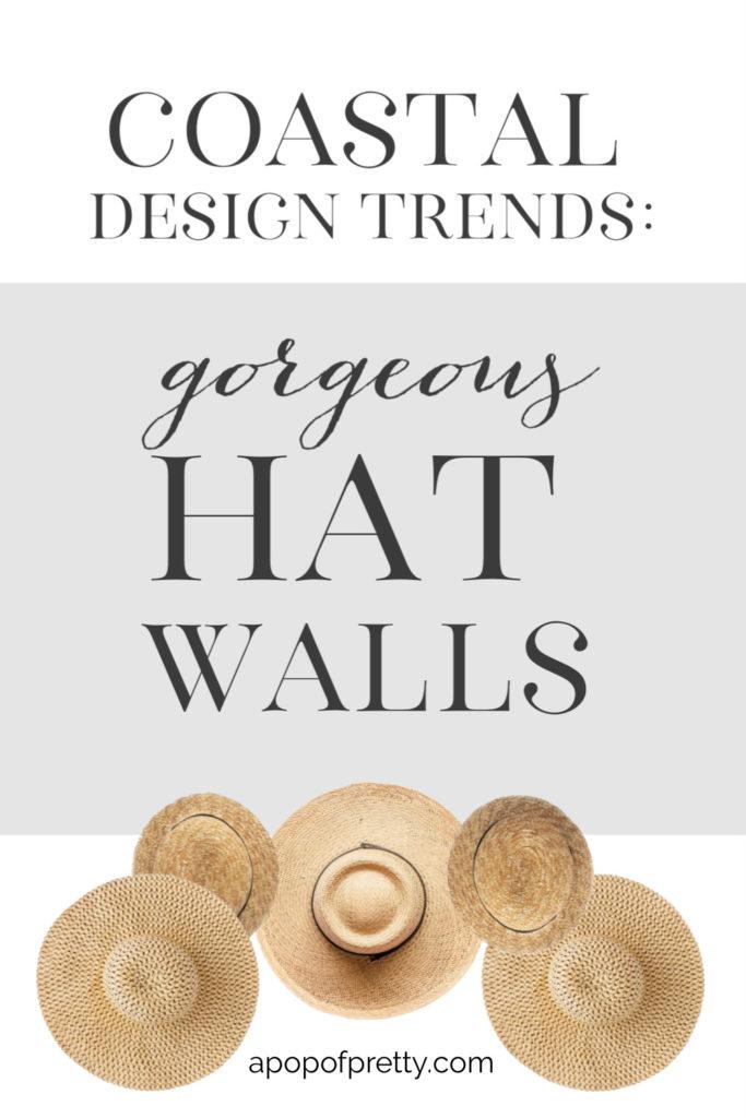 straw hat wall decor