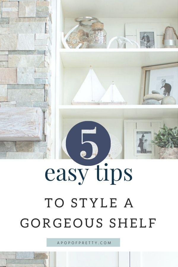 shelf styling tips