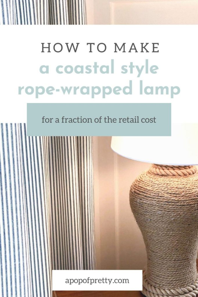 DIY Rope Wrapped Lamp