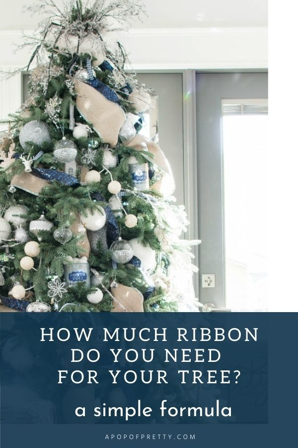 how much ribbon christmas tree