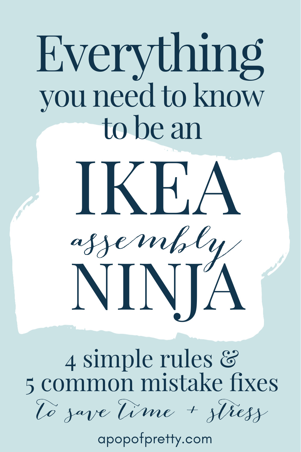 How to put together IKEA furniture