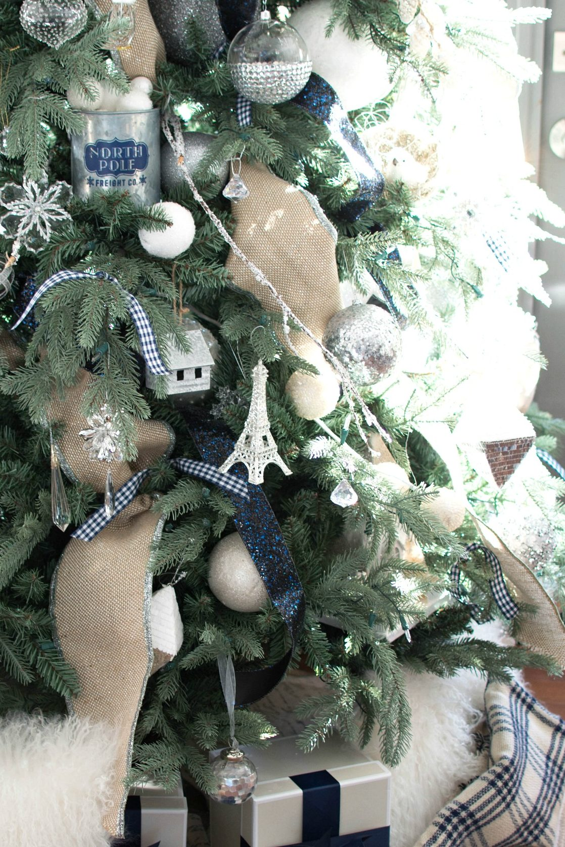 navy christmas tree decorations