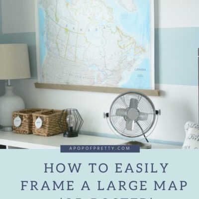 Map Wall Decor: Frame Tutorial (Vintage Style)