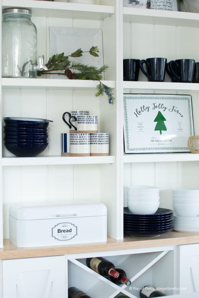rustic farmhouse Christmas decor kitchen
