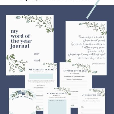 Word of the Year Printable Workbook (Free)