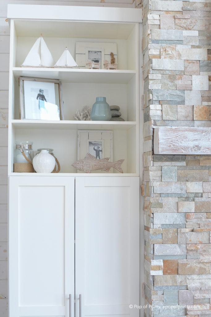 coastal style shelf