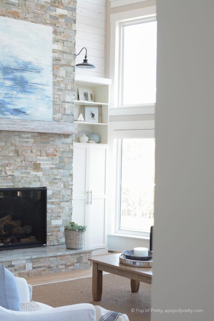 coastal cottage fireplace
