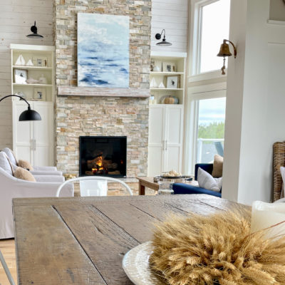 Cozy Living Room for Fall (Coastal Style)