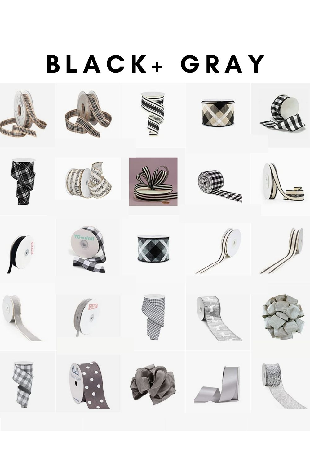 black and white ribbon sources