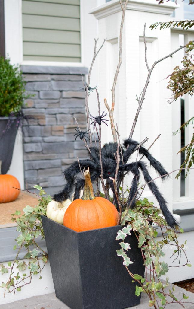 Halloween decor outdoor planter