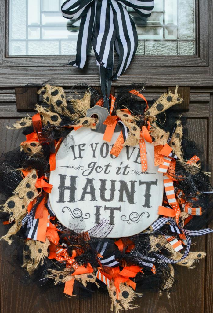 Halloween decoration for door